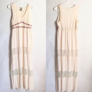 Flying Tomato cream embroidered maxi large